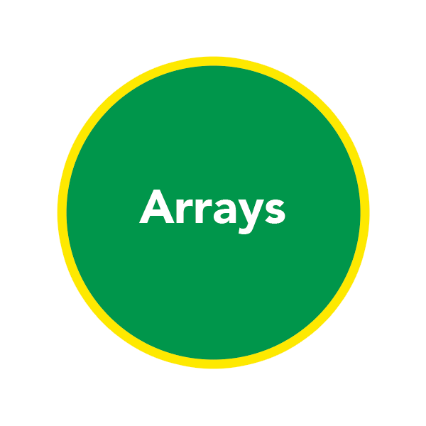 Green circle with Arrays inside