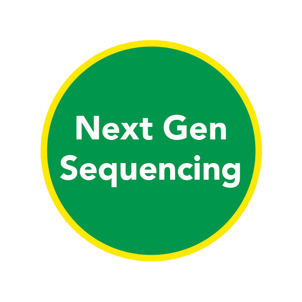 Green circle with Next Gen Sequencing inside