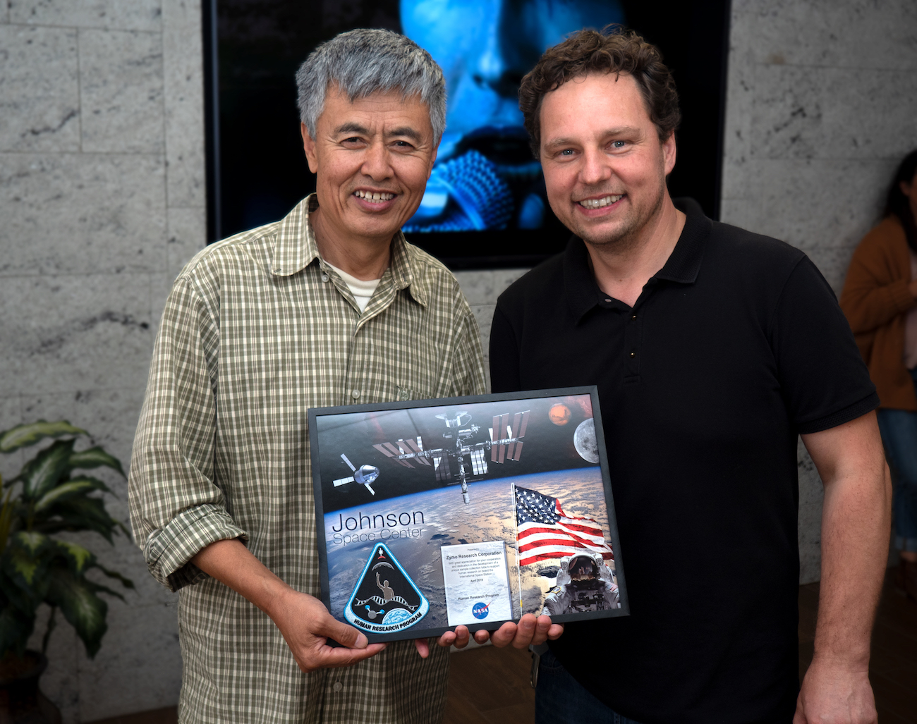 Thank you plaque from Nasa