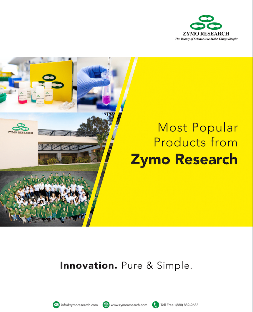 Most Popular Products from Zymo Research cover