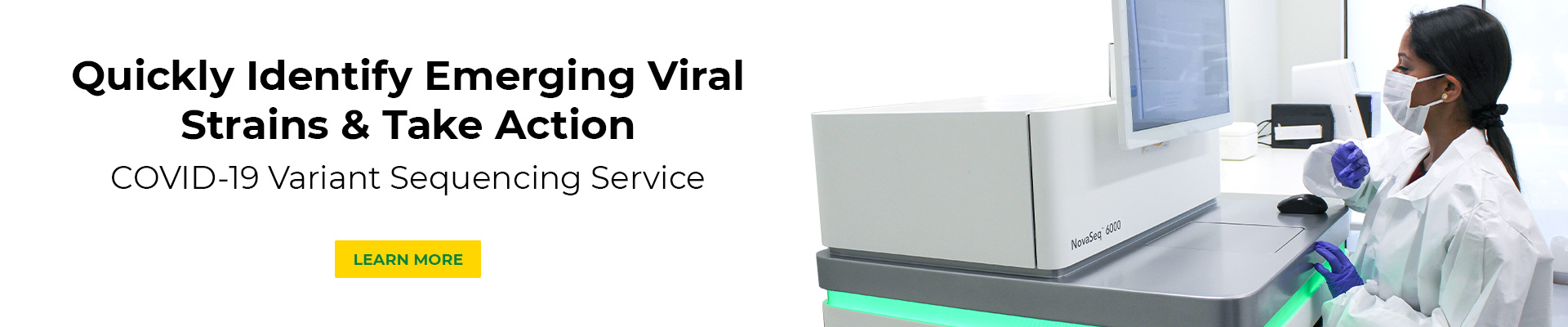 home page carousel banner for COVID-19 Variant Sequencing Service