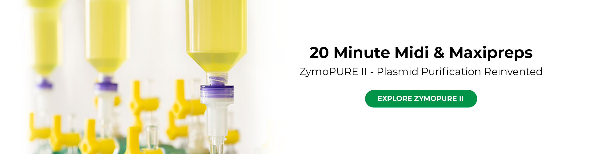 homepage banner for the ZymoPURE II landing page