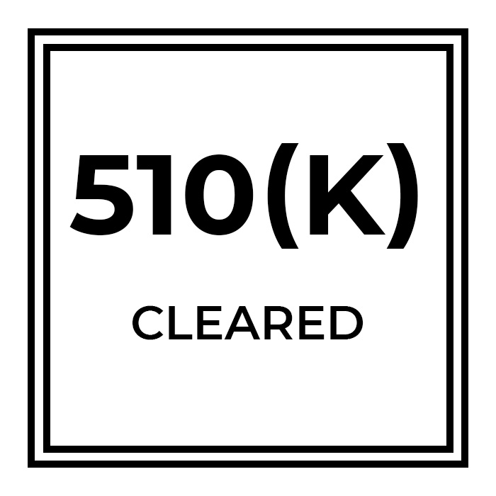 the 510(k) cleared logo