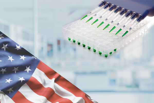 American Flag with Collection Tubes