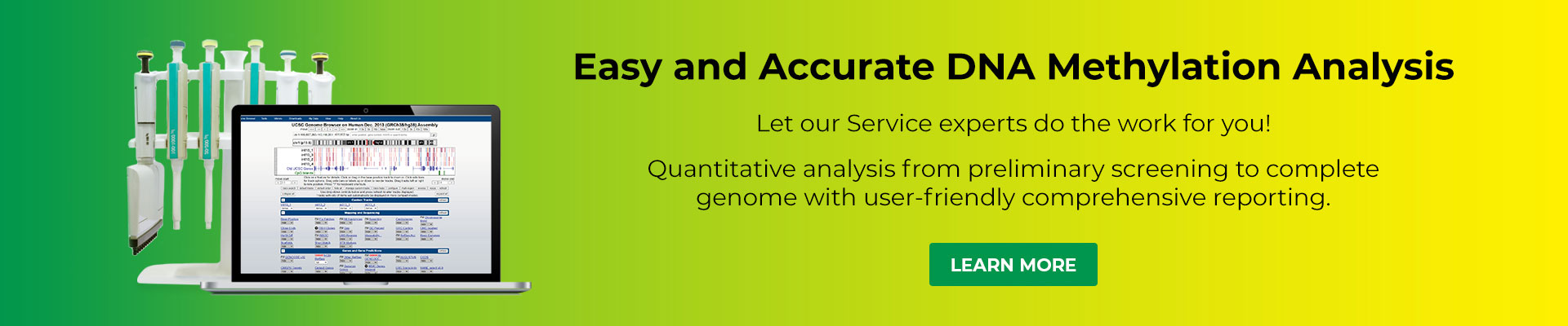 DNA Methylation Service Banner