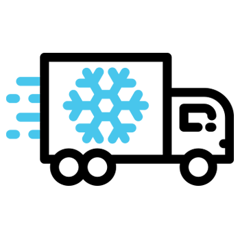 Icon of a cold delivery truck