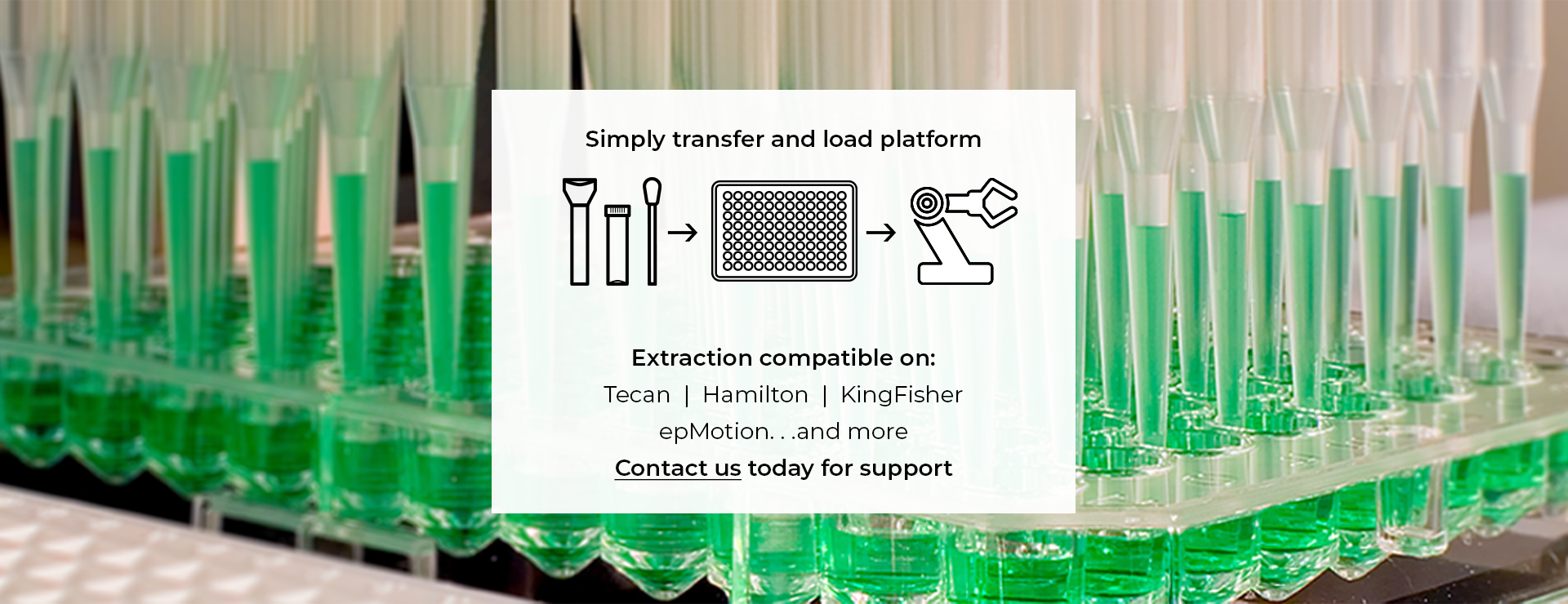 Simply transfer and load platform