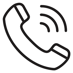 icon of a phone ringing