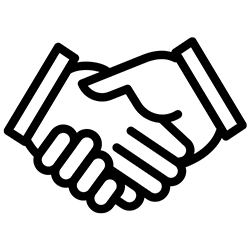 icon of two hands giving a handshake