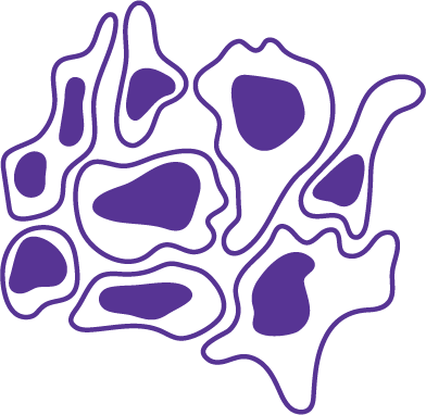 Clipart image of cancer cells