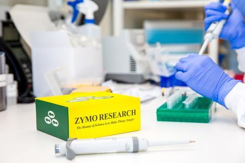 Zymo kit used by scientist